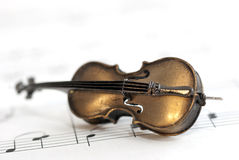 Small instrument and music notes Royalty Free Stock Photos