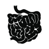 Small intestine black icon Stock Photos