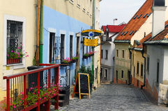 Small, inviting street in Bratislava Royalty Free Stock Image