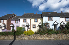 Small irish town houses in Howth Stock Image
