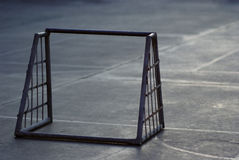 Small iron football gate Stock Image