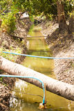Small irrigation canal Stock Photos