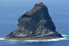 Small island. With a gorilla's head shape Stock Photos