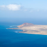 Small Island. View on small volcanic island from Mirador del Rio Royalty Free Stock Photo