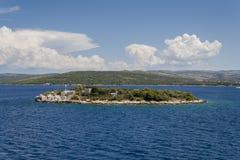 Small Island in the Adriatic sea. Dalmatia, Croatia Royalty Free Stock Images