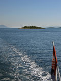Small island at Adriatic sea Royalty Free Stock Photo