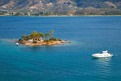 Small island in Aegean sea Royalty Free Stock Images