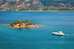 Small island in Aegean sea Stock Photo