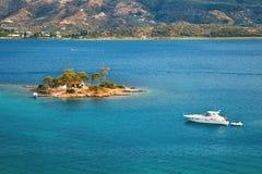 Small island in Aegean sea. Greece Stock Photo
