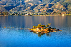 Small island in Aegean sea Stock Photos