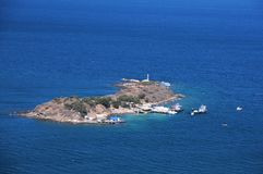 Small Island in the Aegean Sea royalty free stock images