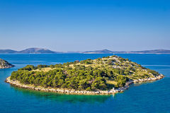 Small island in archipelago of Croatia Stock Images