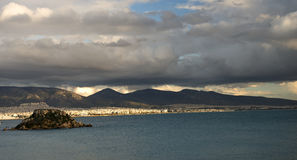 small island in athens panoramic view Stock Photography