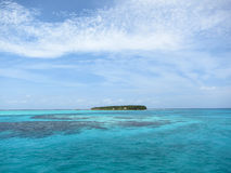 Small Island in Belize Stock Photo
