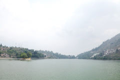 A small island in Bhimtal Lake Royalty Free Stock Photography