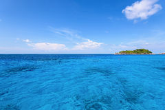Small island and blue sea at Mu Koh Similan Royalty Free Stock Photography