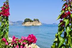 Small island Cameo, Zakynthos, Greece. stock photos