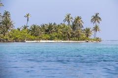 Small Island in the caribbean sea, San Blas Islands Stock Photos