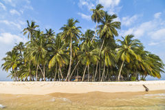 Small Island in the caribbean sea, San Blas Islands Royalty Free Stock Photo
