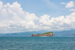 Small island in coast of costa rica Royalty Free Stock Photography