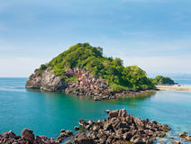 Small island on daylight Royalty Free Stock Photos
