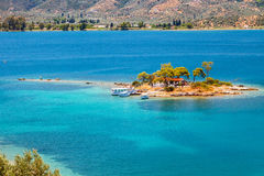Small island, Greece Royalty Free Stock Photos