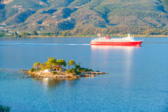 Small island, Greece Royalty Free Stock Images