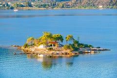Small island, Greece. Small island in Aegean sea, Greece Royalty Free Stock Image