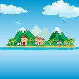 Small Island In Ocean Stock Photography