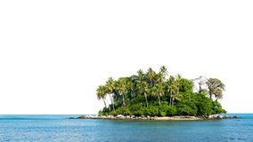 Free Small Island In Tropical Andaman Sea On White Background Royalty Free Stock Images - 133906969
