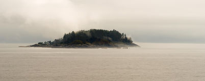 Small Island Inside Passage Canadian Waters Stock Photography