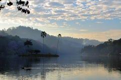 Small island in the Kandy lake, Sri Lanka Royalty Free Stock Images