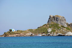 The small island Kastri near Kos, Greece Royalty Free Stock Photography