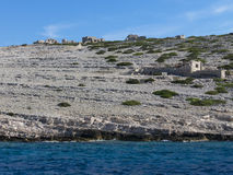 Small island in Kornati Croatia Winnetou movie spot Stock Photography