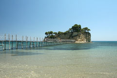 Small island in Laganas in Zakynthos, Greece Royalty Free Stock Photos
