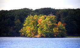 Small island in the lake Royalty Free Stock Photography
