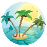 Small Island Landscape Royalty Free Stock Images