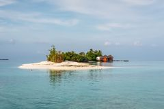 Small island in the Maldives Royalty Free Stock Photo