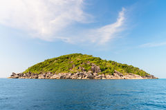 Small island in the middle of the sea Royalty Free Stock Photo