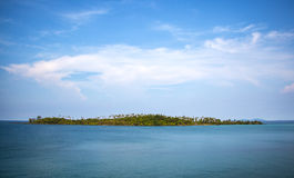 Small island in the middle of the sea in the morning Royalty Free Stock Photo