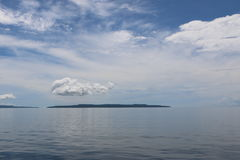 Small Island. At the middle of the sea perfect for any projects Royalty Free Stock Photo