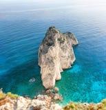 Small island mizithres in zante island Stock Photo