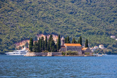 Small island with Monastery Royalty Free Stock Photography