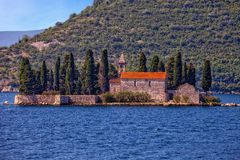 Small island with Monastery Royalty Free Stock Photo