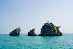Small island in mu ko angthong marine national park royalty free stock photography