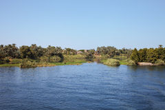 A small island on the Nile Stock Photography