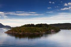 Small island at the Nordland coastline Royalty Free Stock Image