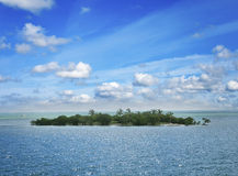 Small Island In The Ocean Royalty Free Stock Images