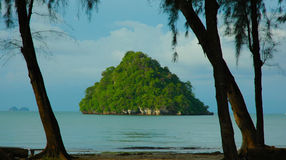 Small island off Ao Nang, Krabi, Thailand Royalty Free Stock Photography