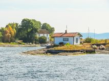 Small island in the Oslo Fjord, Norway Stock Photography